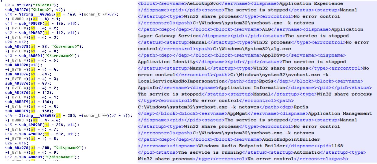 xml输出系统服务